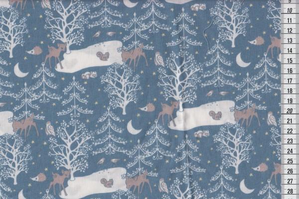 Westfalenstoff Kitzbühel Bambi blau