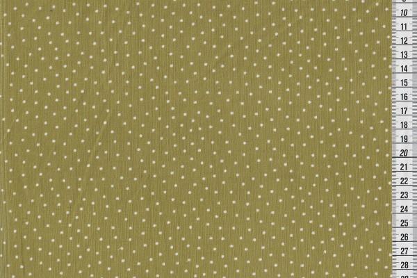Westfalenstoff Babycord mit Pünktchen helles oliv