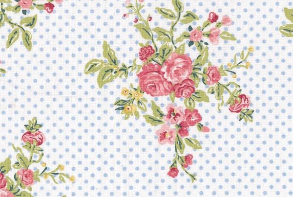 Wachstuch Flora white