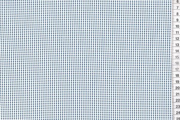 Baumwolldruck Punktereihe weiß/marine