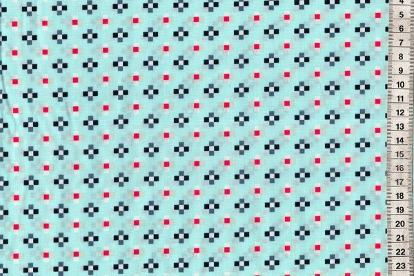 Baumwolldruck Skopelos Crosses Galazio