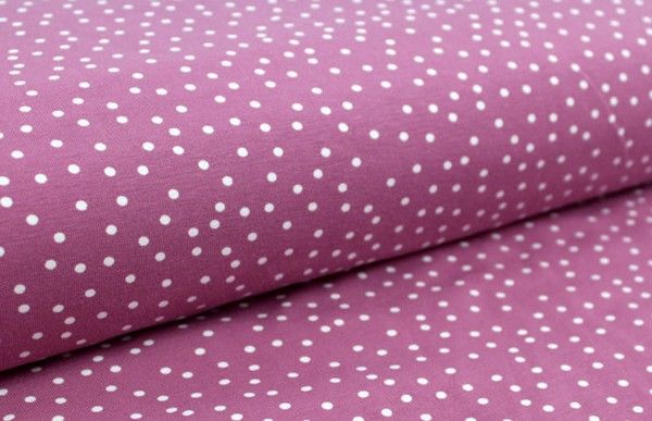 Bio Stretchjersey Dotties vintage-rose