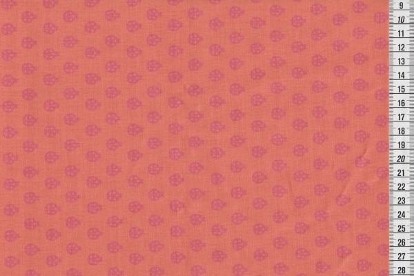 Tula Pink True colors lady bug nectarine