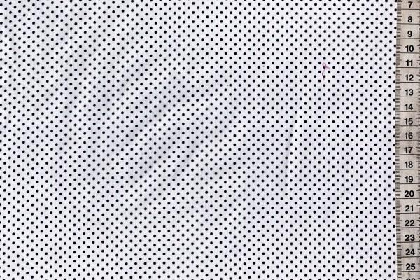 Baumwolldruck gepunktet weiß/marine blau