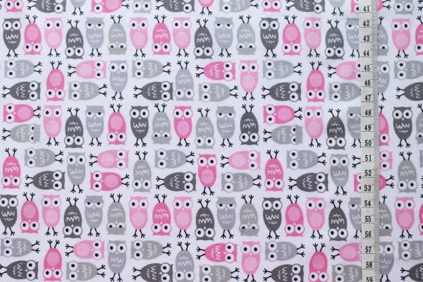 Robert Kaufman Ann Kelle URBAN ZOOLOGIE Minis Owls pink