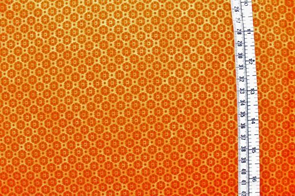 QUILTERS BASIC Blümchen orange