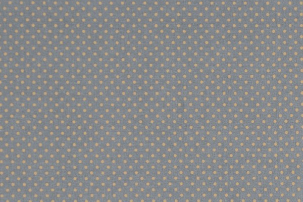 Dekostoff Dots dark grey/mustard