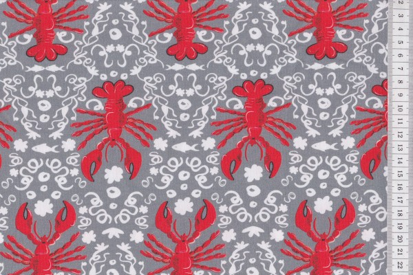 Stretchjersey Lobster grau by CherryPicking