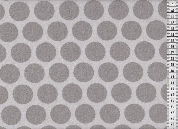 Dekostoff Super Dots grey/light grey