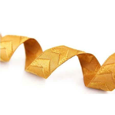 Chevron Webband gold mit Glitzerfaden