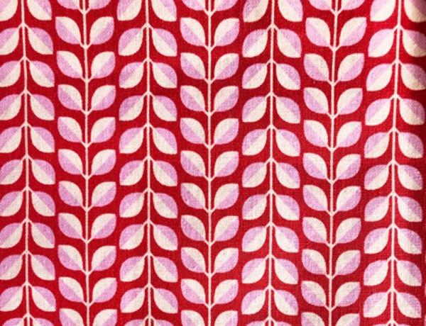 Kokka Mees&Mees Canvas Retro Blätterreigen rot