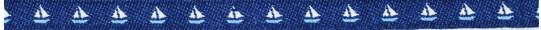 Schiffchen marine