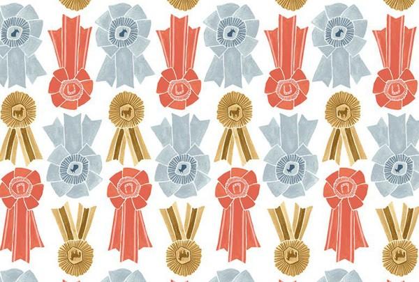 Rae Ritchie Poppy Prairie Prize Ribbons white