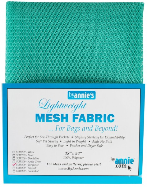 by annie's Mesh Fabric lightweight tuquoise