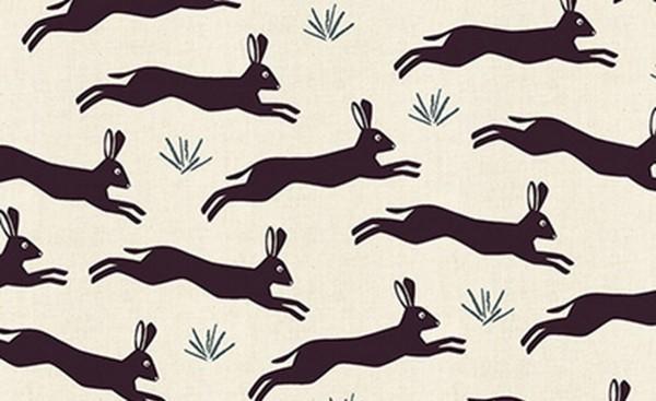 In the Woods by Loes Van Oosten Playfule Hare Plum