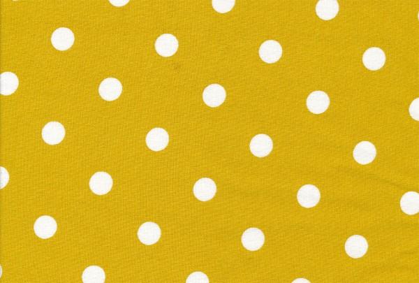 Dekostoff Dots Big mustard