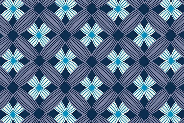 Ruby Star Society Tarrytown by Kimberly Kight Tuffted Geometric navy