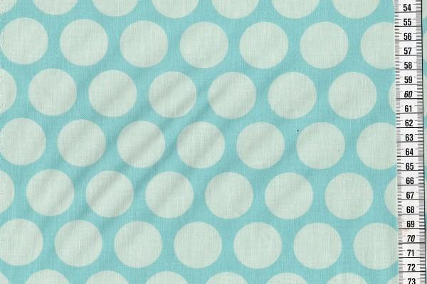 Dekostoff Super Dots Aqua Sky