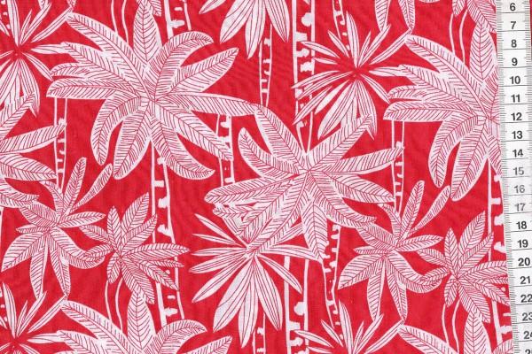 Viskosedruck Palmen rot