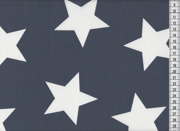 Dekostoff Stars Giant midnight blue
