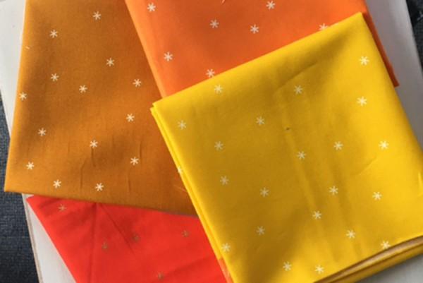 Rubystar Society Spark by Melody Miller Fat Quarter Set orange