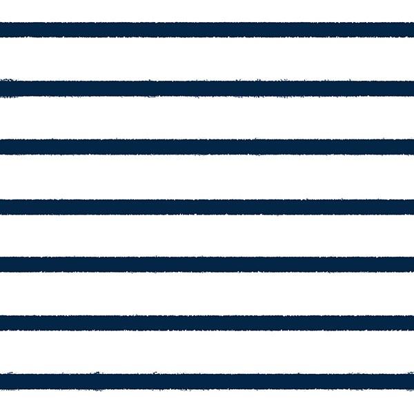 Jersey Stripes Navy Peony