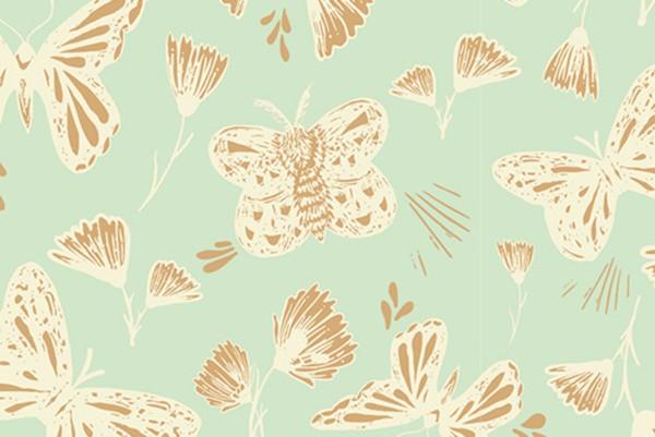 Stretchjersey Butterflies