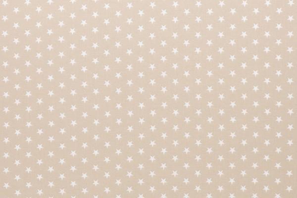 Baumwollwebware Sterne beige