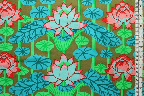 Kaffe Fassett lotus stripe green