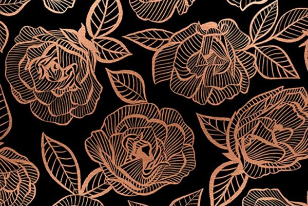 Ruby Star Society First Light Melody Miller Floral Lace Roses black copper