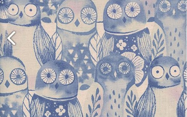 Firelight Wise Owls Lilac by Sarah Watts