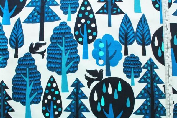 COSMO Wald blau weiß