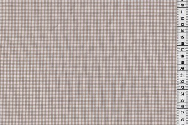 Baumwollkaro natur/weiß