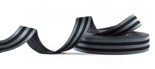 Stripes black Webband