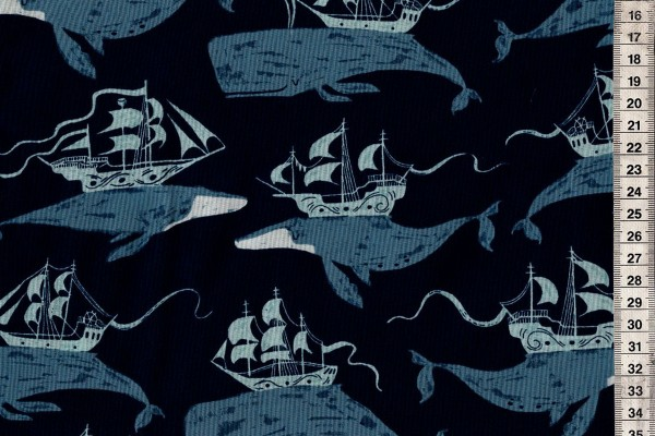 Rae Ritchie Sink or Swim Whale Ships Navy