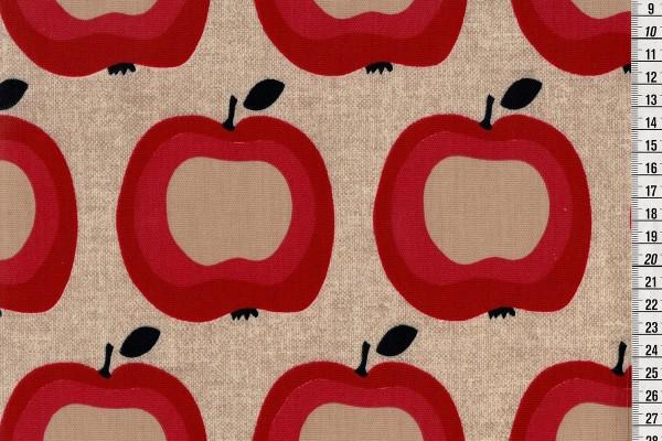 Wachstuch Apfelernte