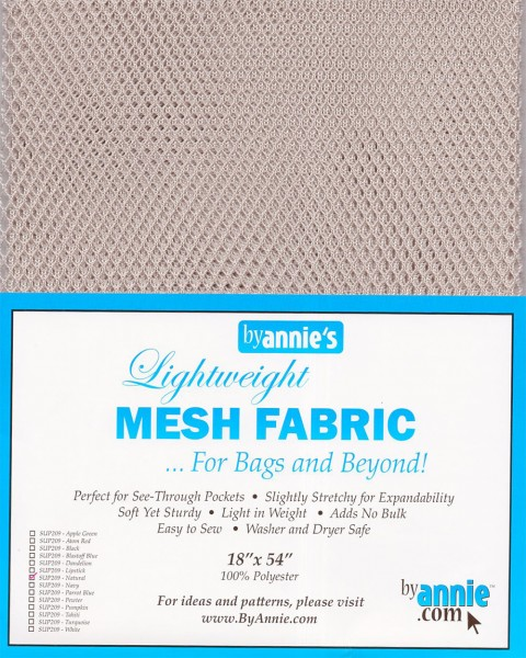 by annie's Mesh Fabric lightweight natural