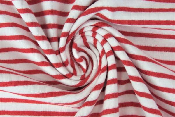 Lillestoff Jersey Ringeljersey-rot