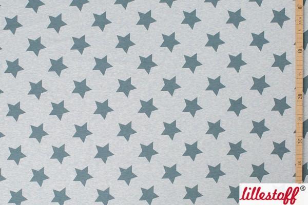 Lillestoff Jersey Sterne hellblau meliert Stars