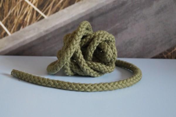 Baumwollkordel 8 mm olivgrün
