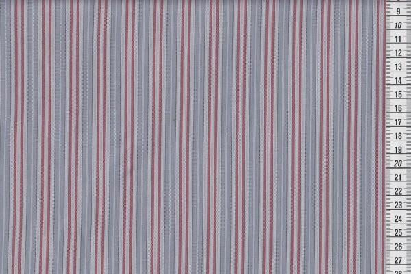 Westfalenstoffe Bergen Streifen hell grau/rot
