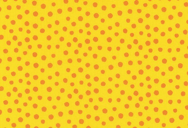 Westfalenstoff Junge Linie Punkte groß gelb/orange