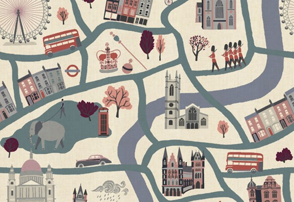 London Town by Sara Mulvanny London Forever blue