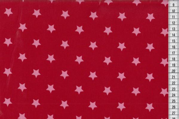 Wachstuch Stars Big scarlet red/babydoll