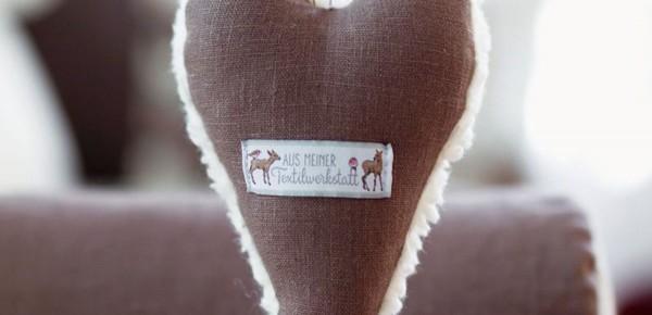 Webetikett Aus meiner Textilwerkstatt