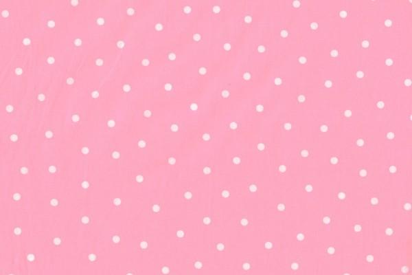 Baumwollpopeline Punkte rosa