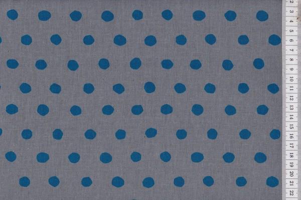 Echino Dots grau/petrol