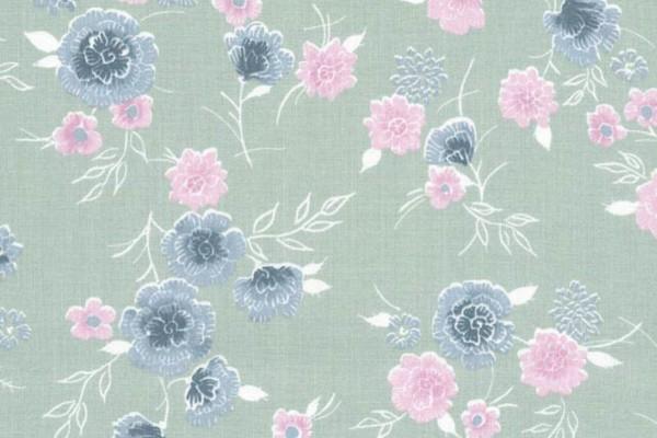 Westfalenstoff Cardiff Blumenstrauss blassgrün