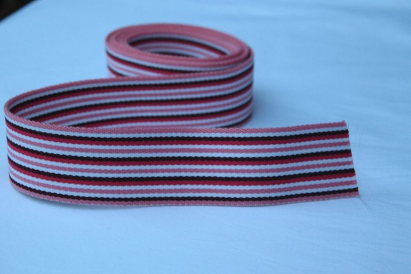 Gurtband Streifen rosa/pink