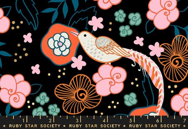 Ruby Star Society Purl by Sarah Watts Pheasant Black
